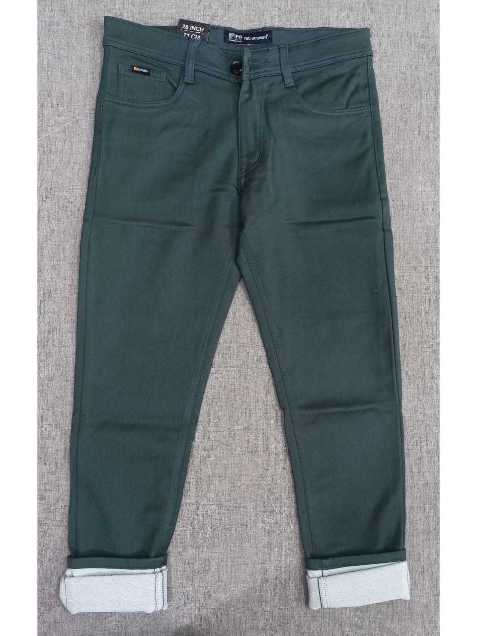 Slim Fit Solid Cotton Casual with Jeans Pocket