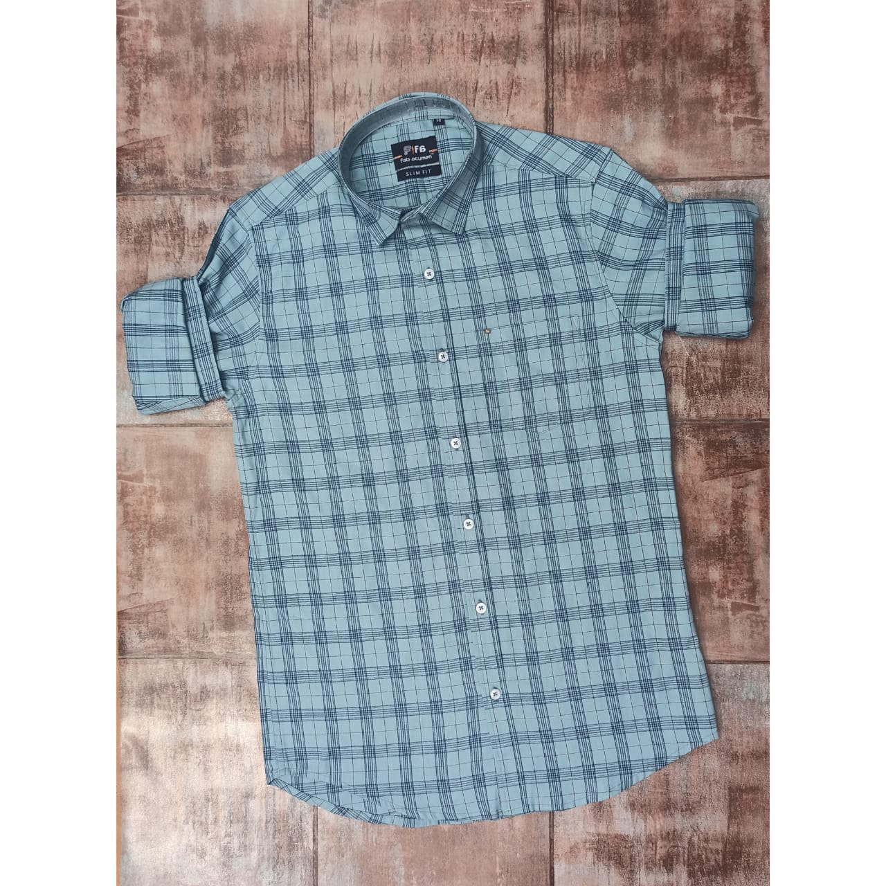 Premium Checked Casual Shirt with mask